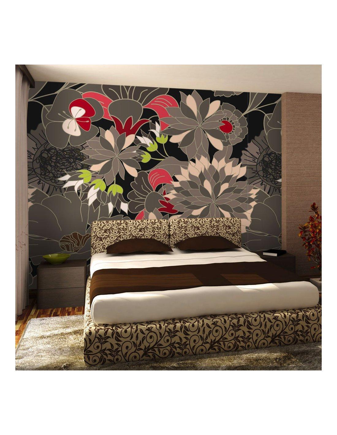 papier peint motif floral gris 89 90 chez recollection. Black Bedroom Furniture Sets. Home Design Ideas