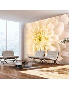 Papier Peint Dahlia Blanc  Autres fleurs Artgeist