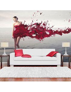 Papier peint RED BEAUTY - par Artgeist