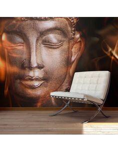 Papier peint BUDDHA. FIRE OF MEDITATION. - par Artgeist