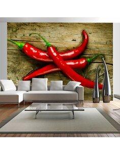 Papier peint SPICY CHILI PEPPERS - par Artgeist
