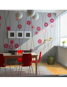 Papier peint BOUTONS ROSES - par Artgeist