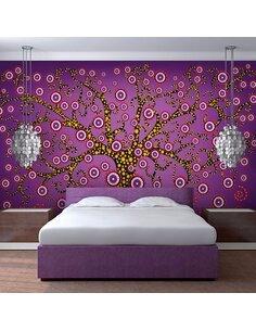 Papier Peint Abstraction: Arbre (Violet)  Arbres Artgeist