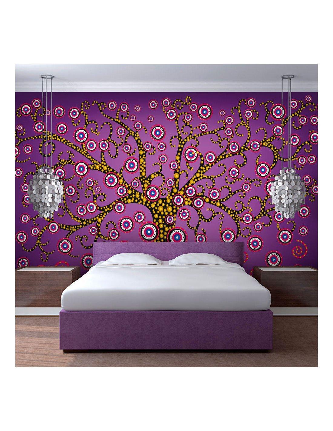 papier peint abstraction: arbre (violet) à 89,90 € chez recollection