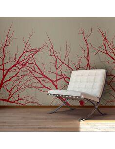 Papier peint RED-HOT BRANCHES - par Artgeist