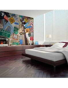 Papier peint NEW YORK SIGNPOSTS - par Artgeist