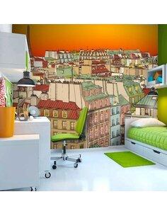 Papier peint CAFÉ DU MATIN À PARIS - par Artgeist