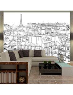 Papier peint CROQUIS PARISIEN - par Artgeist