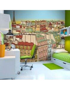 Papier peint BONJOUR PARIS ! - par Artgeist