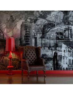 Papier peint LONDRES, LONDRES... (NOIR ET BLANC) - par Artgeist