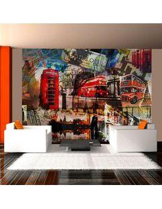Papier peint COLLAGE LONDRES - par Artgeist