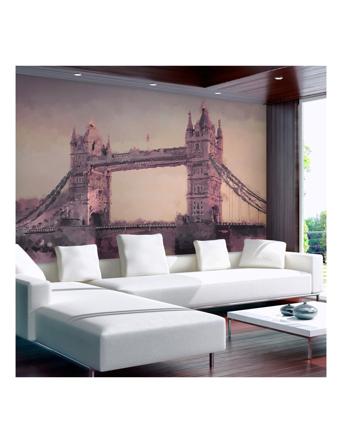 papier peint painted london 89 90 chez recollection. Black Bedroom Furniture Sets. Home Design Ideas