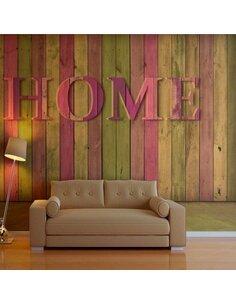 Papier peint HOUSE PINK - par Artgeist