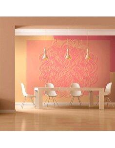 Papier peint ORNEMENT ROSE - par Artgeist
