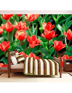 Papier peint PAINTED FLOWERS - par Artgeist