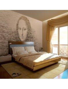 Papier peint MONA LISA : PORTRAIT EN LETTRES - par Artgeist