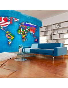Papier peint FLAGS OF COUNTRIES - par Artgeist