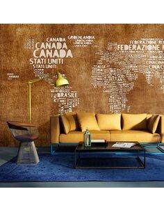 Papier peint ANTIQUE ITALIAN MAP - par Artgeist