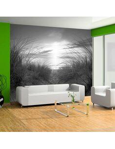 Papier peint PLAGE EN N&B - par Artgeist