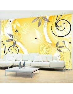 Papier peint YELLOW ROSES - par Artgeist
