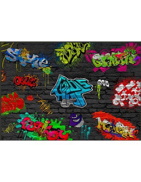 papier peint graffiti wall 99 90 chez recollection. Black Bedroom Furniture Sets. Home Design Ideas