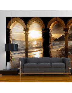 Papier peint CASTLE ON THE BEACH - par Artgeist