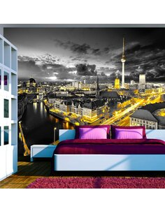 Papier peint BERLIN AT NIGHT - par Artgeist