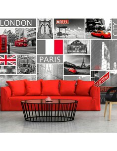 Papier peint LONDON, PARIS, BERLIN, NEW YORK - par Artgeist