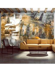 Papier peint BERLIN COLLAGE ORANGE - par Artgeist