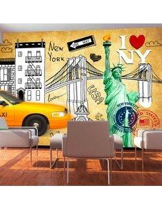 Papier peint ONE WAY NEW YORK - par Artgeist