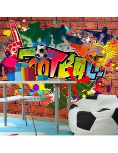 Papier peint FOOTBALL FANS! - par Artgeist
