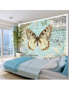 Papier peint POSTCARD WITH BUTTERFLY - par Artgeist