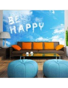 Papier peint BE HAPPY - par Artgeist