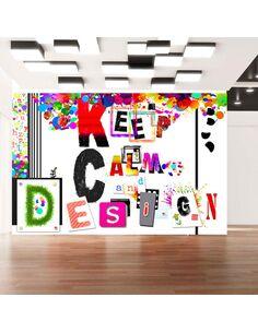 Papier peint KEEP CALM AND DESIGN - par Artgeist