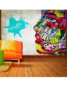 Papier peint GRAFFITI BEAUTY - par Artgeist