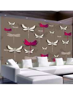 Papier peint DANCING DRAGONFLIES - par Artgeist