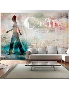 Papier peint CREATE YOURSELF - par Artgeist