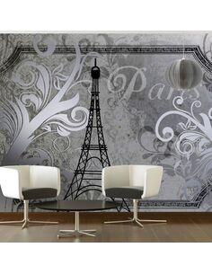 Papier peint VINTAGE PARIS SILVER - par Artgeist