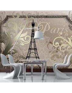 Papier peint VINTAGE PARIS GOLD - par Artgeist