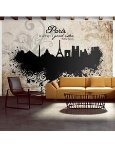 Papier peint PARIS IS ALWAYS A GOOD IDEA VINTAGE - par Artgeist