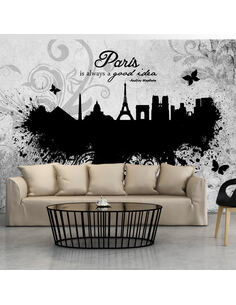 Papier peint PARIS IS ALWAYS A GOOD IDEA EN N&B - par Artgeist