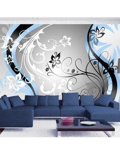 Papier peint ART-FLOWERS BLUE - par Artgeist
