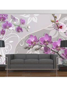 Papier peint FLIGHT OF PURPLE ORCHIDS - par Artgeist