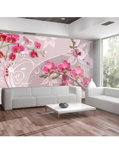 Papier peint FLIGHT OF PINK ORCHIDS - par Artgeist