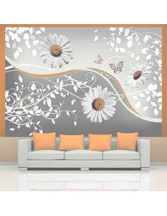 Papier Peint Flying Daisies  Autres fleurs Artgeist