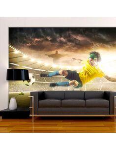 Papier Peint Brazilian Football  Sport Artgeist