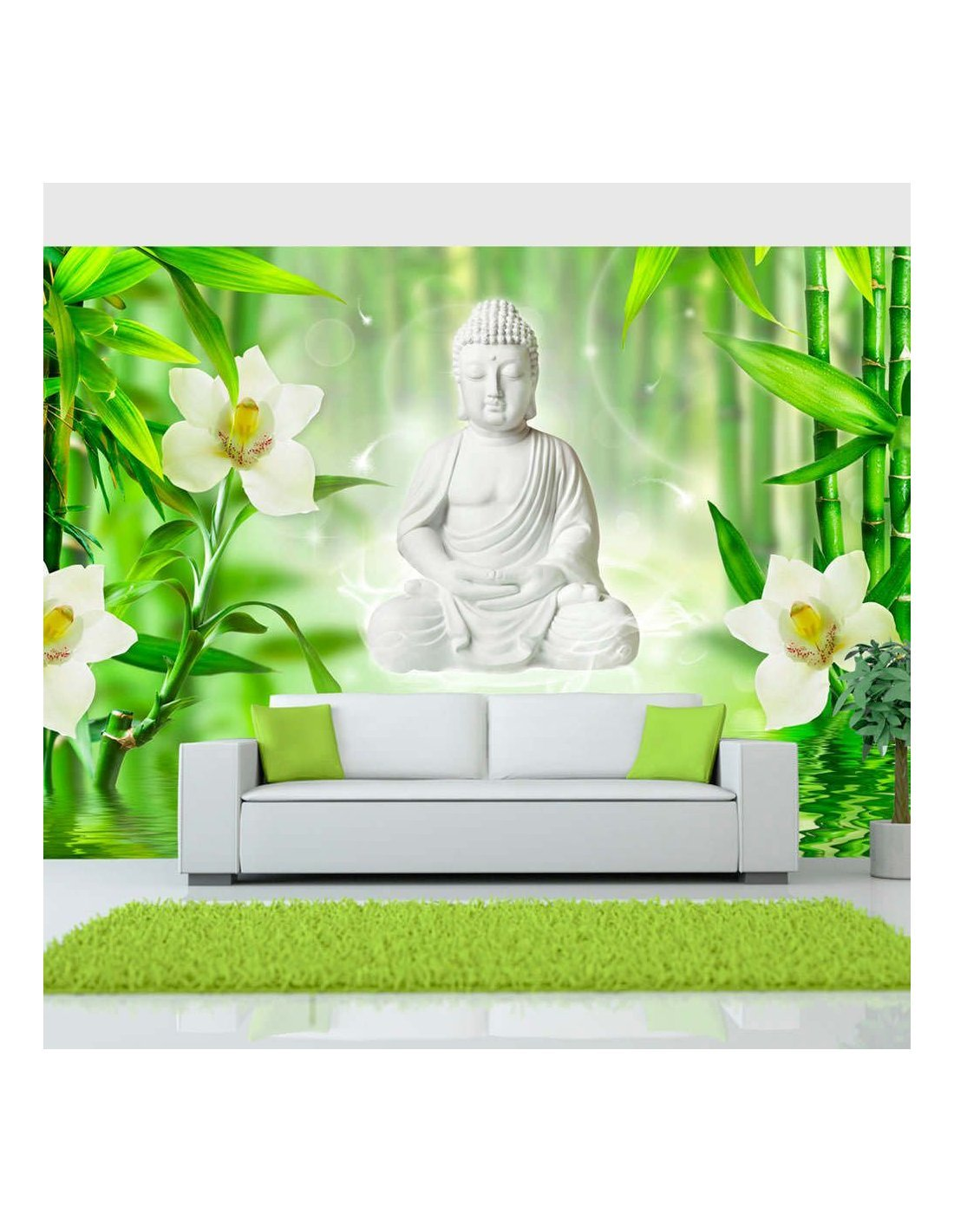 papier peint buddha and nature artgeist. Black Bedroom Furniture Sets. Home Design Ideas