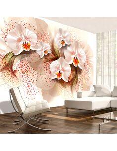 Papier peint PALE YELLOW ORCHIDS - par Artgeist