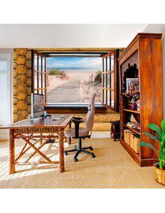 Papier peint BEACH OUTSIDE THE WINDOW - par Artgeist