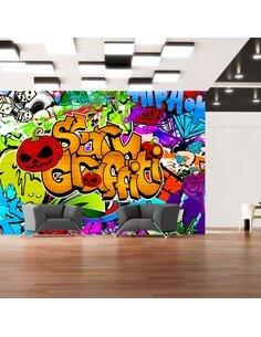 Papier peint SCARY GRAFFITI - par Artgeist